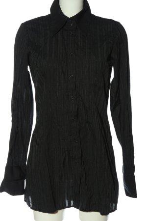 Vero Moda Hemd-Bluse schwarz Streifenmuster Casual-Look