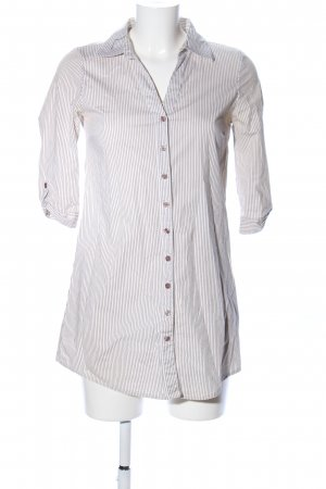 Vero Moda Hemd-Bluse weiß-braun Streifenmuster Casual-Look