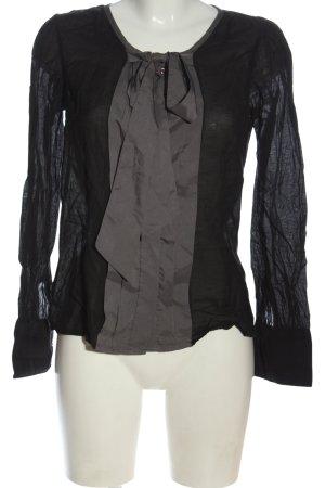Vero Moda Hemd-Bluse schwarz-hellgrau Casual-Look