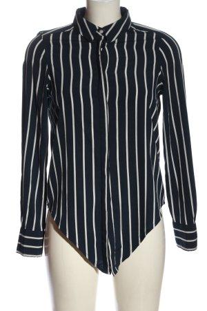 Vero Moda Shirt Blouse blue-white striped pattern business style