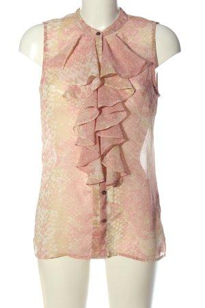 Vero Moda Hemd-Bluse pink-creme abstraktes Muster Casual-Look