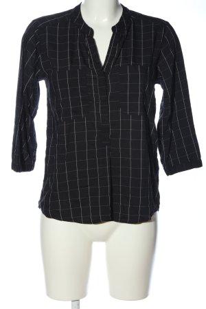 Vero Moda Hemd-Bluse schwarz-weiß Allover-Druck Casual-Look