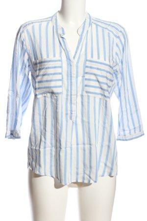 Vero Moda Hemd-Bluse blau-weiß Streifenmuster Casual-Look