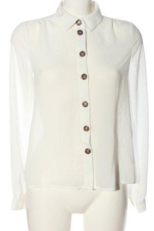 Vero Moda Hemd-Bluse weiß Casual-Look