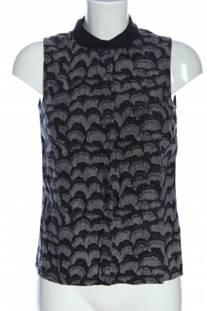 Vero Moda Hemd-Bluse schwarz-hellgrau abstraktes Muster Casual-Look