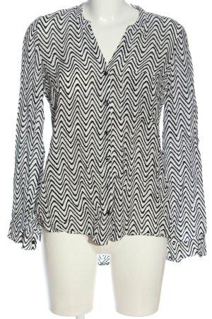 Vero Moda Hemd-Bluse weiß-schwarz Streifenmuster Casual-Look