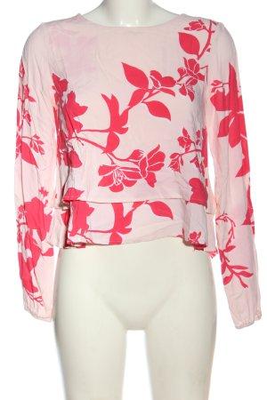 Vero Moda Hemd-Bluse pink-rot Allover-Druck Elegant