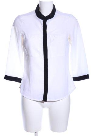 Vero Moda Hemd-Bluse weiß-schwarz Elegant
