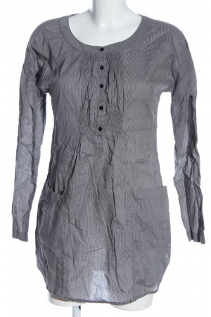Vero Moda Hemd-Bluse weiß-hellgrau Streifenmuster Casual-Look