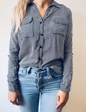 Vero Moda Hemd Bluse gestreift schwarz weiß Gr. S