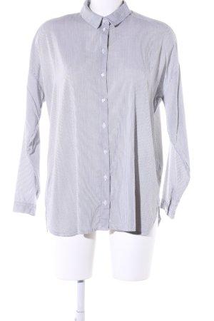 Vero Moda Hemd-Bluse hellgrau-weiß Streifenmuster Casual-Look
