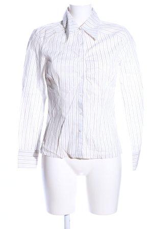 Vero Moda Hemd-Bluse weiß-braun Streifenmuster Business-Look