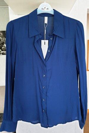 Vero Moda Chemise à manches longues bleu viscose