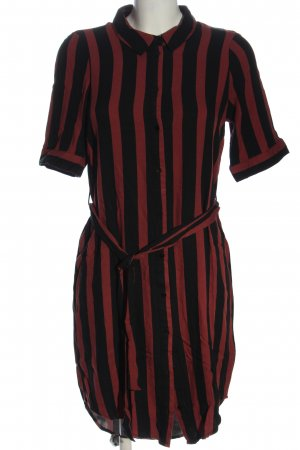 Vero Moda Hemdblusenkleid schwarz-rot Streifenmuster Casual-Look
