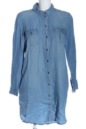 Vero Moda Hemdblusenkleid blau Casual-Look