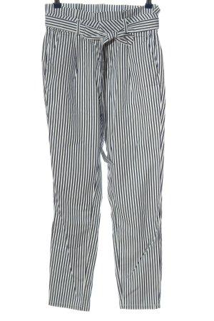 Vero Moda High-Waist Hose weiß-schwarz Streifenmuster Casual-Look