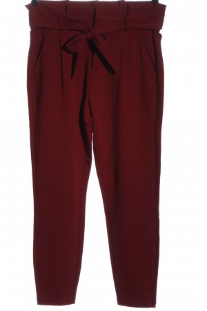 Vero Moda Pantalón de cintura alta rojo estilo «business»