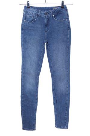 Vero Moda Pantalon taille haute bleu style décontracté