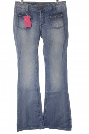 Vero Moda Hoge taille jeans blauw-abrikoos casual uitstraling