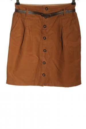 Vero Moda High Waist Skirt light orange-brown striped pattern casual look