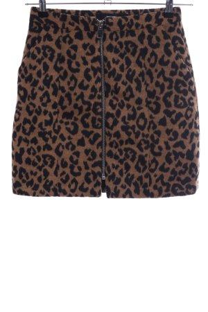 Vero Moda Jupe taille haute brun-noir motif léopard style décontracté
