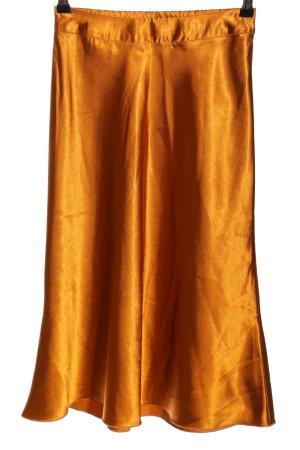 Vero Moda High Waist Rock goldfarben Glanz-Optik