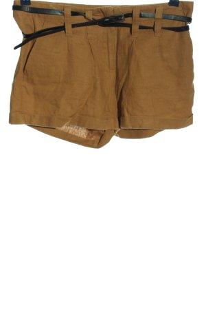 Vero Moda Pantalón corto de talle alto marrón-negro look casual