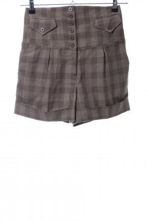 Vero Moda High-Waist-Shorts braun Karomuster Casual-Look