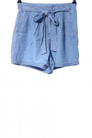 Vero Moda High-Waist-Shorts blau Casual-Look