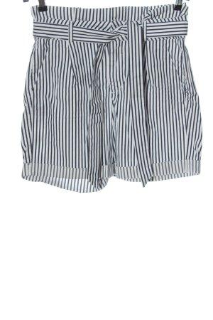 Vero Moda Pantalón corto de talle alto blanco-azul look casual