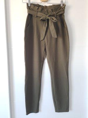 Vero Moda Pantalón de cintura alta caqui