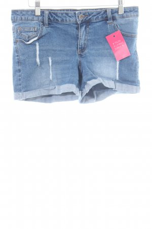 Vero Moda Hot Pants blau Casual-Look