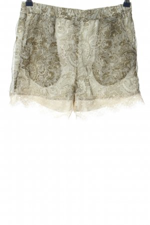 Vero Moda Hot Pants wollweiß grafisches Muster Casual-Look
