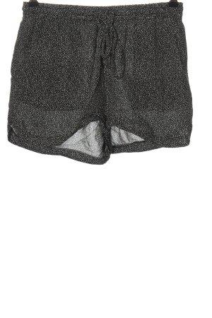 Vero Moda Hot Pants schwarz-weiß Allover-Druck Casual-Look