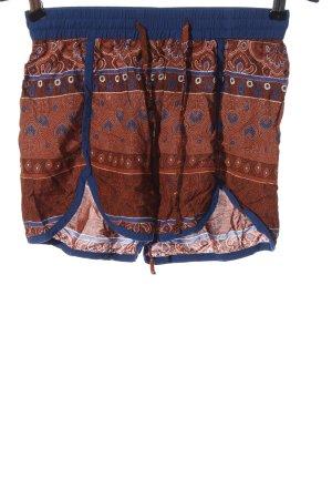 Vero Moda Hot Pants braun-blau abstraktes Muster Casual-Look
