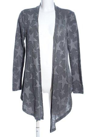 Vero Moda in Blue Strick Cardigan hellgrau abstraktes Muster Casual-Look