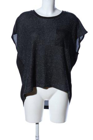 Vero Moda in Blue T-Shirt schwarz meliert Casual-Look