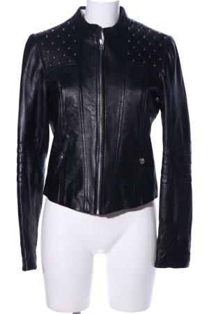 Vero Moda Kurtka z imitacji skóry czarny Wzór w kropki W stylu casual