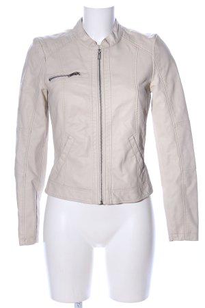 Vero Moda Kurtka z imitacji skóry w kolorze białej wełny W stylu casual