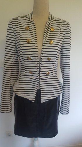 Vero Moda Granatowa kurtka biały-ciemnoniebieski
