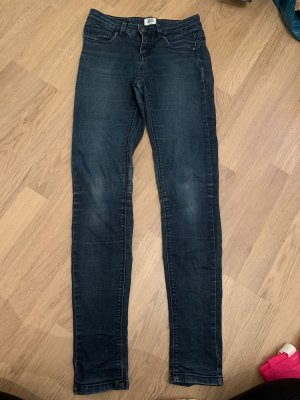 Vero Moda Low-Rise Trousers dark blue