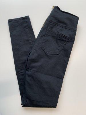 Vero Moda Jeggings negro tejido mezclado
