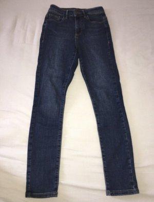 Vero Moda Jeans taille haute bleu foncé-bleu