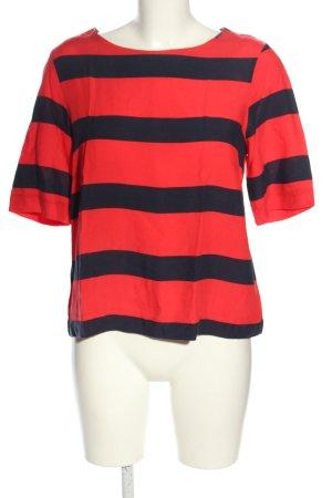 vero moda jeans Maglia scollo a barca rosso-nero stampa integrale stile casual