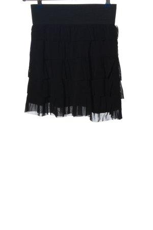 vero moda jeans Volanten rok zwart casual uitstraling