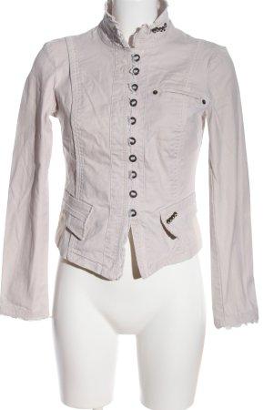 Vero Moda Blazer en jean blanc cassé style décontracté
