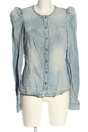Vero Moda Jeans blouse blauw casual uitstraling