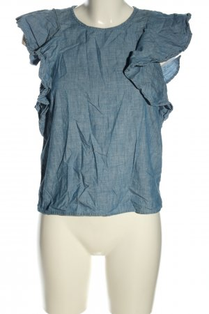 Vero Moda Blouse en jean bleu style décontracté
