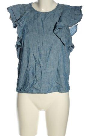 Vero Moda Jeansbluse blau meliert Casual-Look