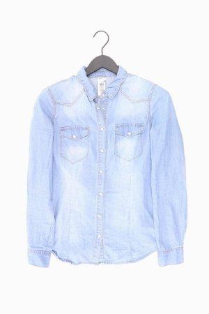 Vero Moda Jeansbluse Größe M Langarm blau aus Baumwolle